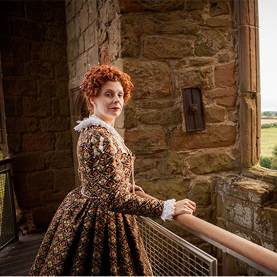 A reenactment of Queen Elizabeth I at Kenilworth Castle
