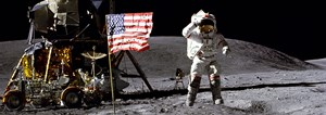 First moon landing on 20 July 1969