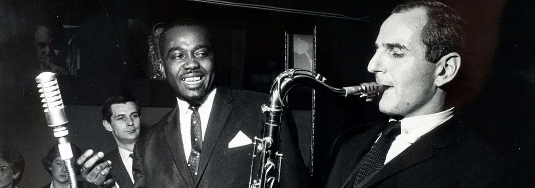 British jazz tenor saxophonist Ronnie Scott (1927-1996) in action at the Ronnie Scott Club, c1961.