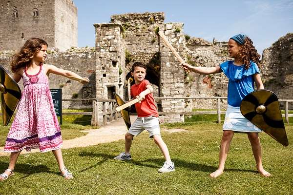 "Portchester Castle, Hampshire ""Portchester has everything: history, harbour, church, ramparts, views for miles, family friendly  events and even cricket in the grounds."""