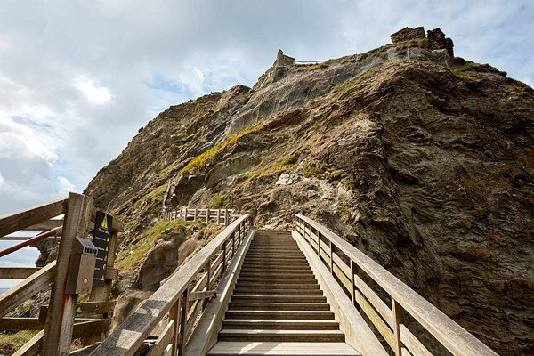"Tintagel Castle, Cornwall ""Perfect combination of castle in a breathtaking clifftop location, stunning views of the sea, and beach cove tunnels down below."""