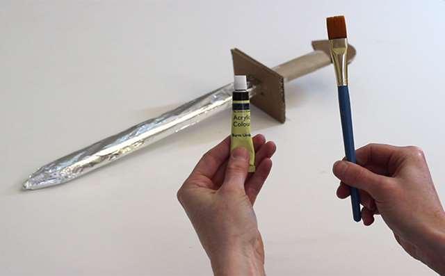 How to make a cardboard sword | English Heritage