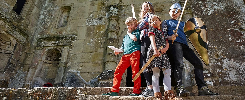 Children at Old Wardour Castle