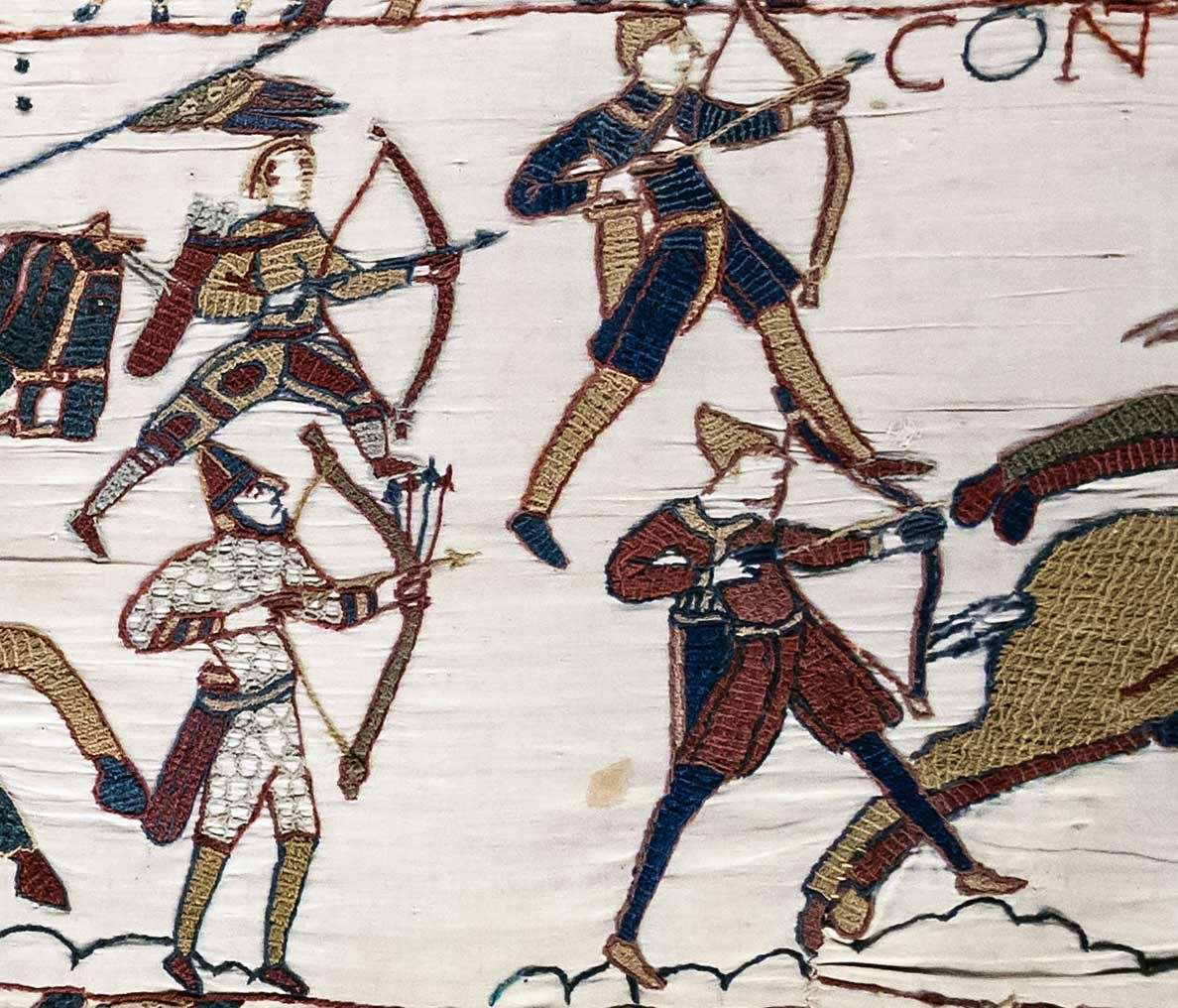 Norman archers at the Battle of Hastings