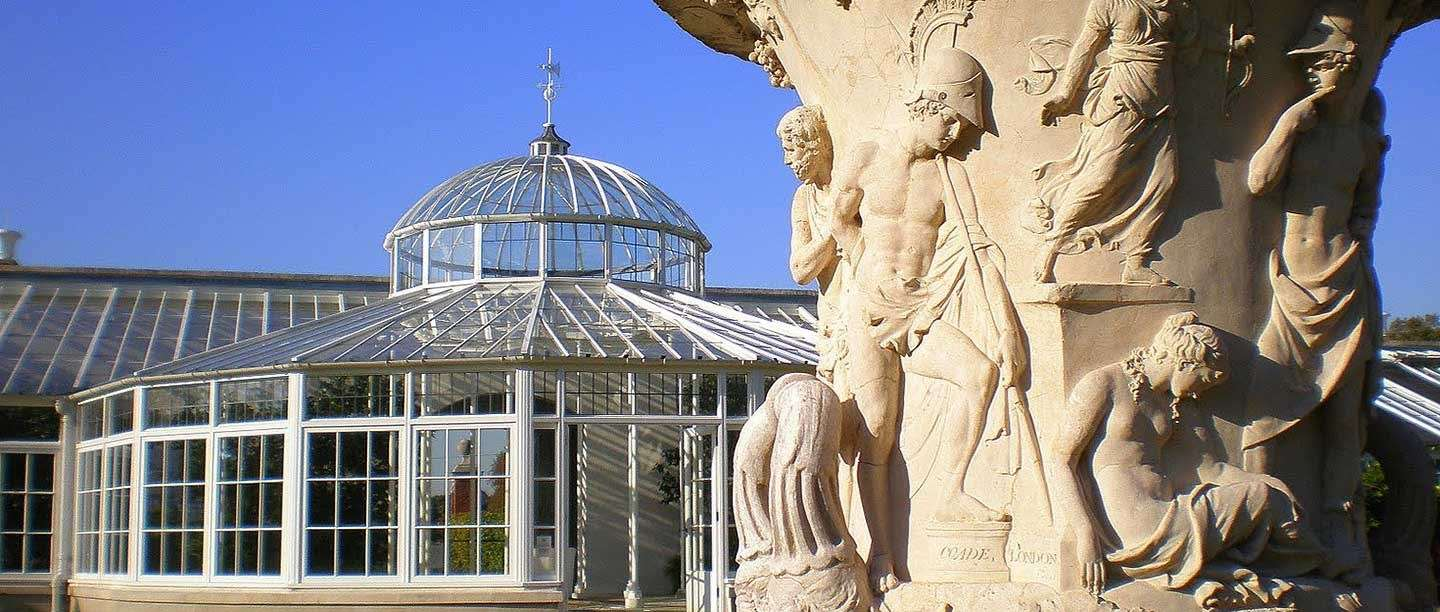 Coade stone sculpture at Chiswick House