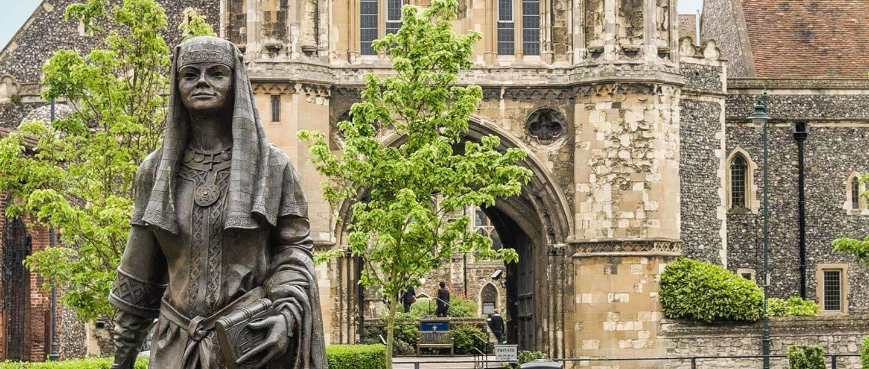 Statue of Queen Bertha of Kent