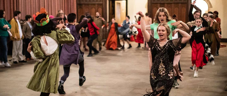 Students performing at Eltham Palace