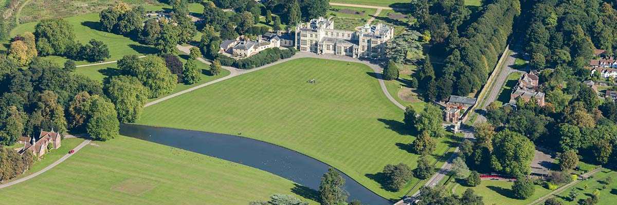 Aerial view of Audley End House