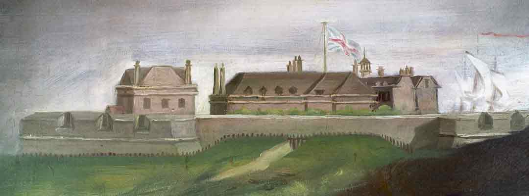 Landguard Fort, Suffolk, detail from a painting of about 1780