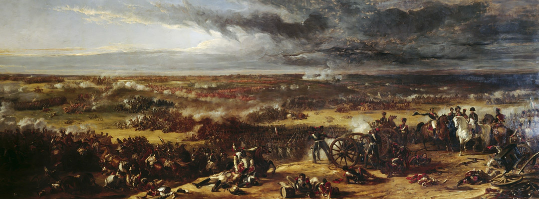 Detail from 'The Battle of Waterloo', painted in 1843 and on display at Apsley House, London
