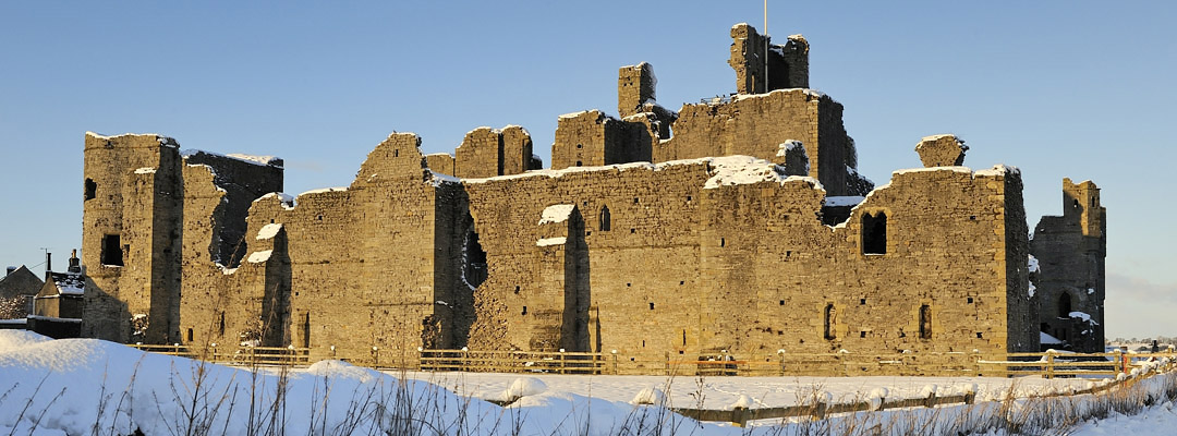 The south view of Middleham Castle