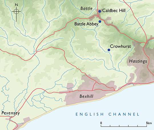 Map Of England Hastings.Where Did The Battle Of Hastings Happen English Heritage