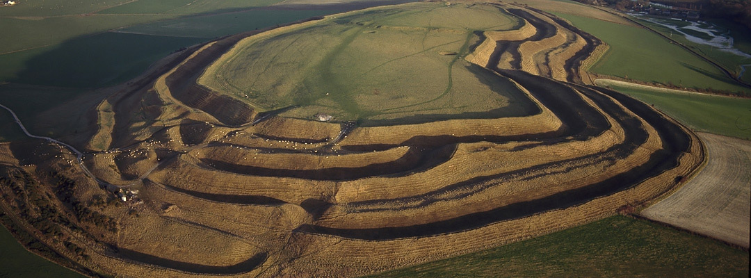 Maiden Castle, one of Europe's largest hillforts