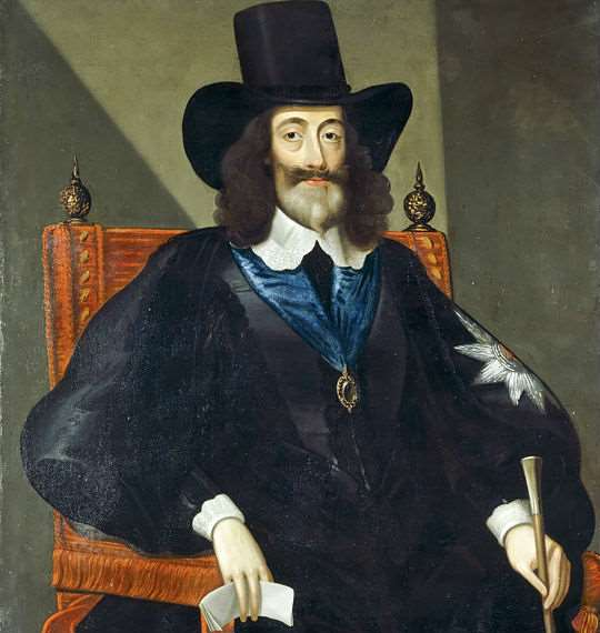 Charles I at his trial in 1649