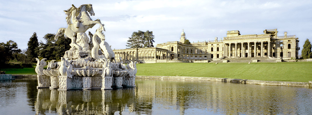 The 'Perseus and Andromeda' fountain in the gardens of Witley Court, Herefordshire
