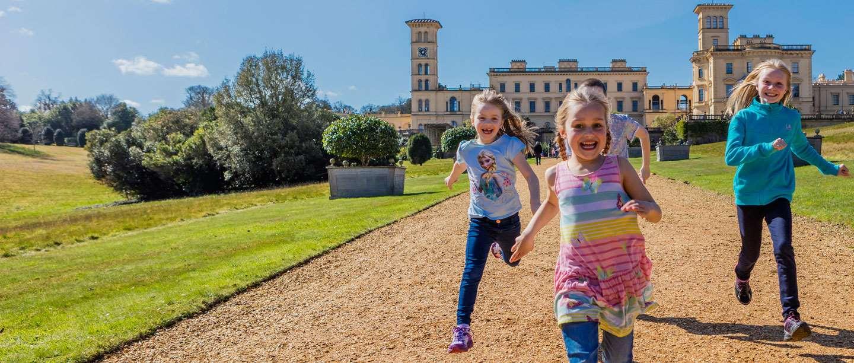 Image: Children play at Osborne, Isle of Wight