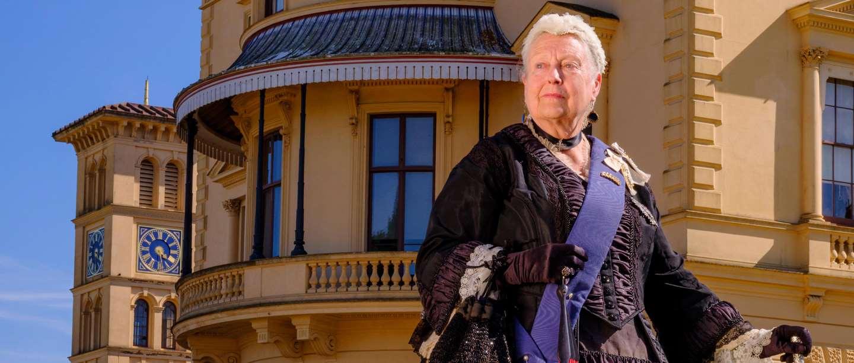 Image: Queen Victoria re-enactor at Osborne