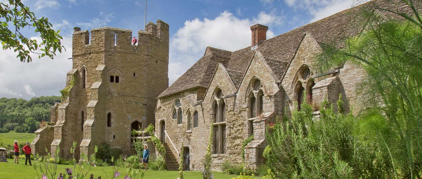 Image: Exterior of Stokesay Castle in Shropshire