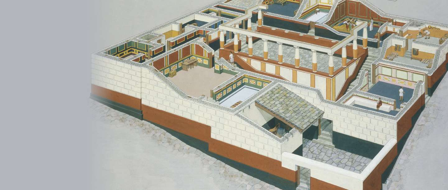 Illustration of Housesteads Roman Fort in Roman times