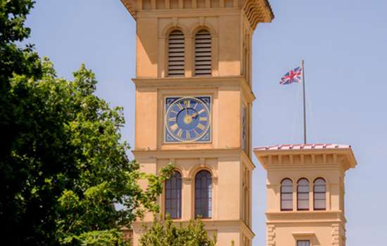 Image: The clock tower at Osborne