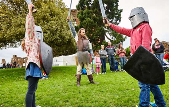 Image: children dressed as knights
