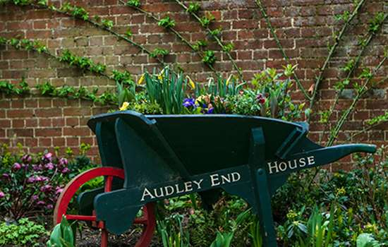 Image: Audley End House and Gardens kitchen garden barrow