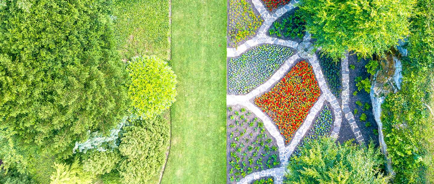 Image: Brodsworth's target garden seen from above