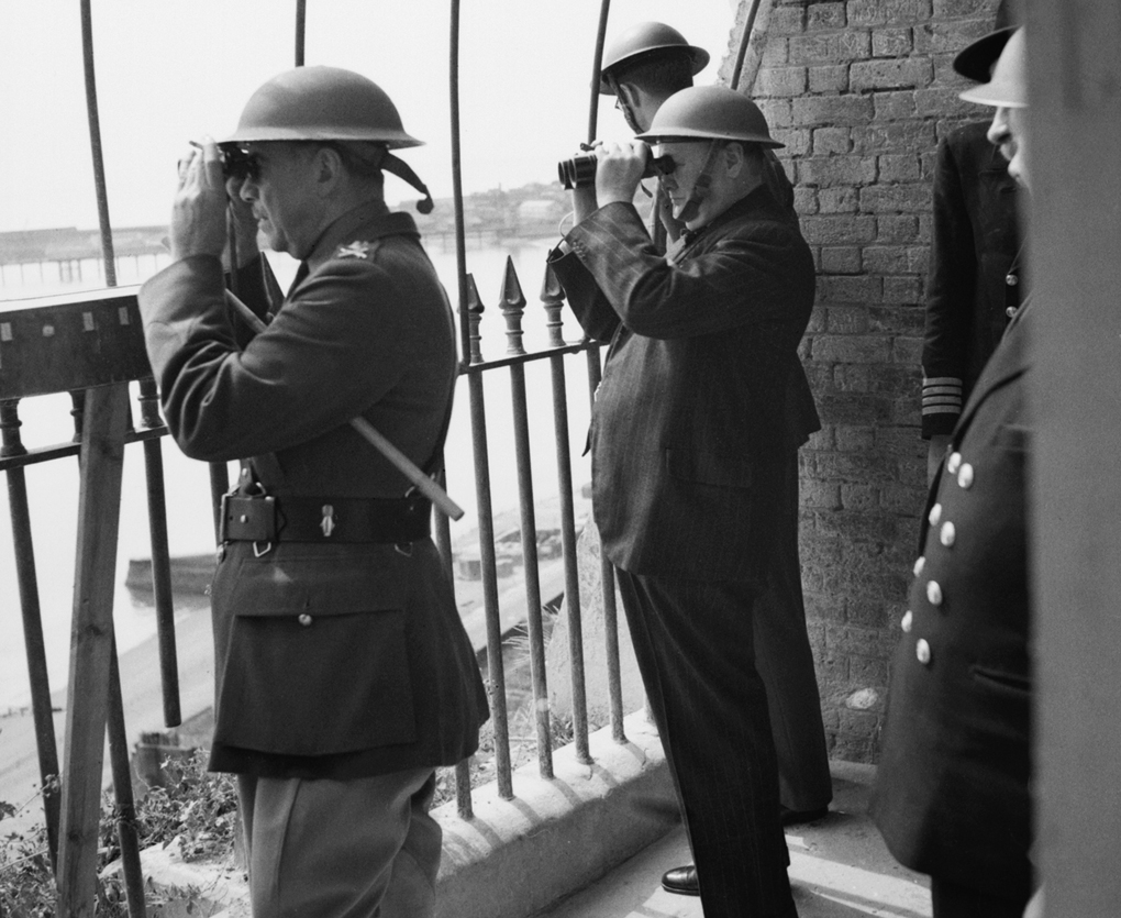 Image: Winston Churchill and advisors scan the horizon (Photo by Capt. Horton/IWM via Getty Images)