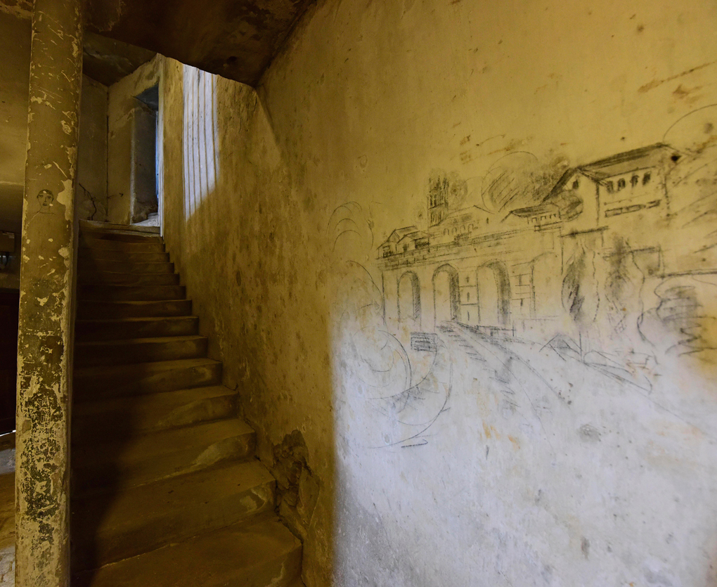 Image: graffiti in Richmond Castle left by imprisoned conscientious objectors