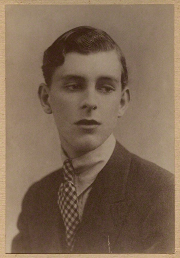 Sepia-toned photograph of Stephen Tennant, the lover of Siegfried Sassoon