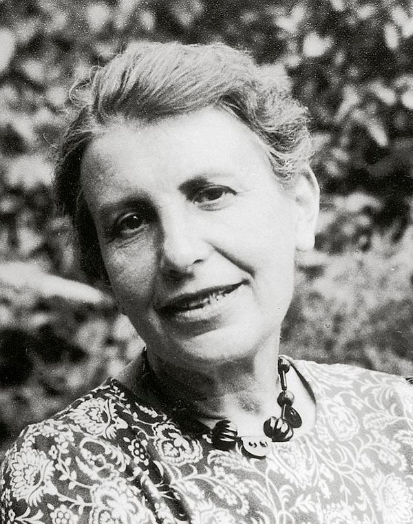 The psychoanalyst Anna Freud in the 1950s