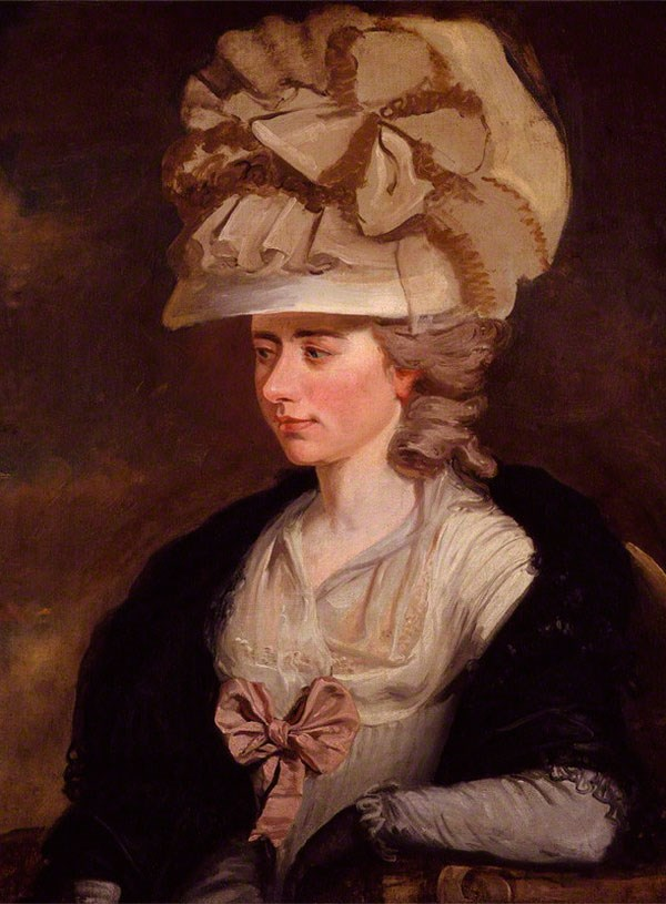 The novelist Fanny Burney, the first woman to be honoured with a plaque