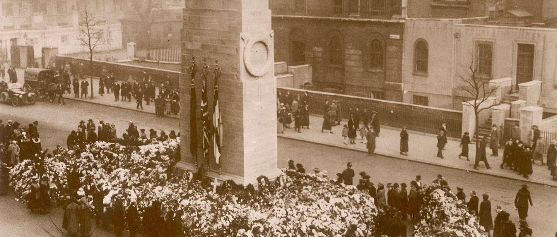 Whitehall Cenotaph in sepia