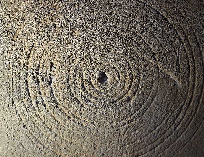 A witches' mark on the wall of the Star Chamber at Bolsover Castle