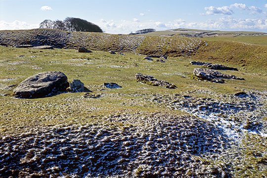 Arbor Low, one of the most impressive prehistoric monuments in the Peak District