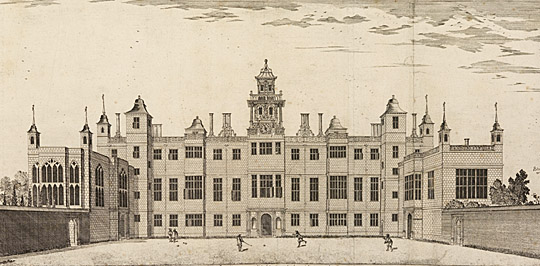 Henry Winstanley's engraving of the house from the east, showing the scale of Audley End in the late 17th century