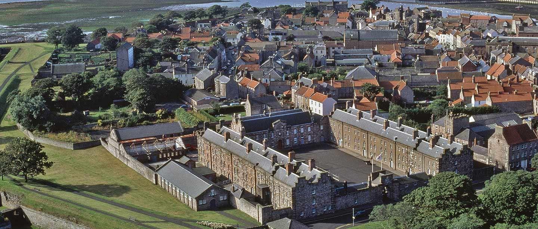 Aerial view of Berwick Barracks