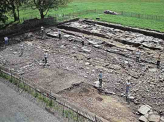 Excavation of the 'Dark Age' hall at Birdoswald