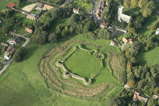 Bolingbroke Castle seen from the air