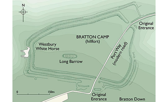 Plan of Bratton Camp and Westbury White Horse