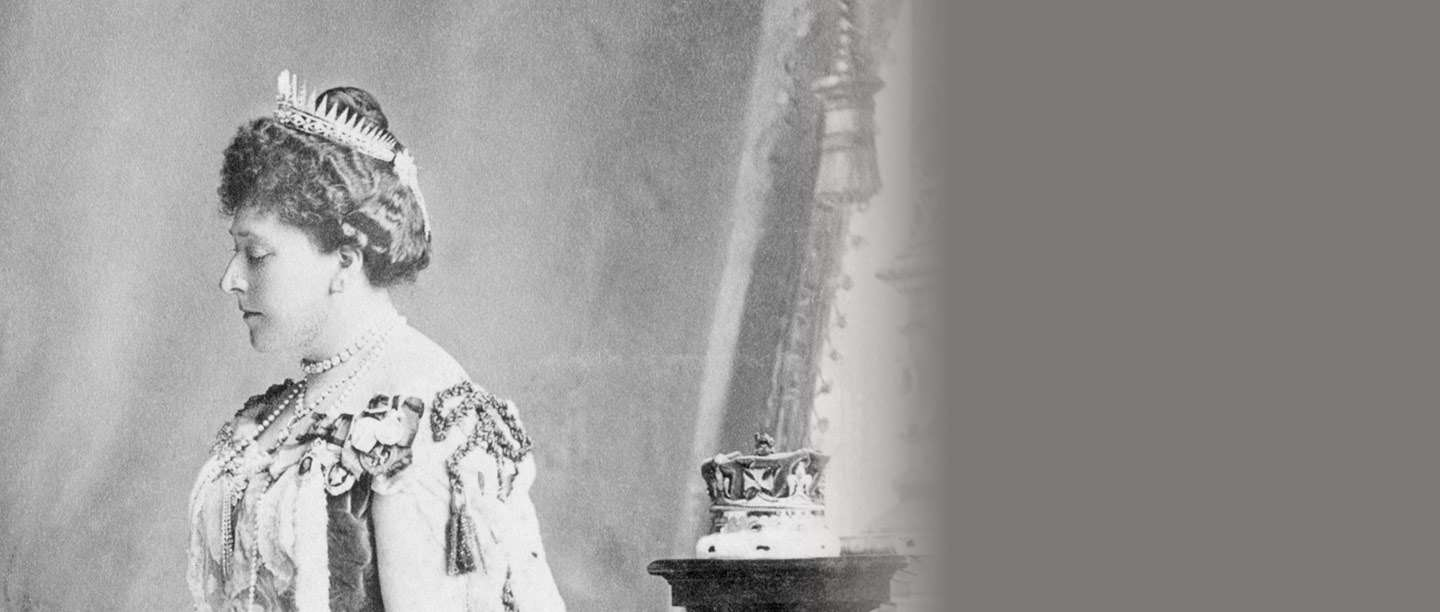 Princess Beatrice in the robes she wore to the coronation of Edward VII in 1902