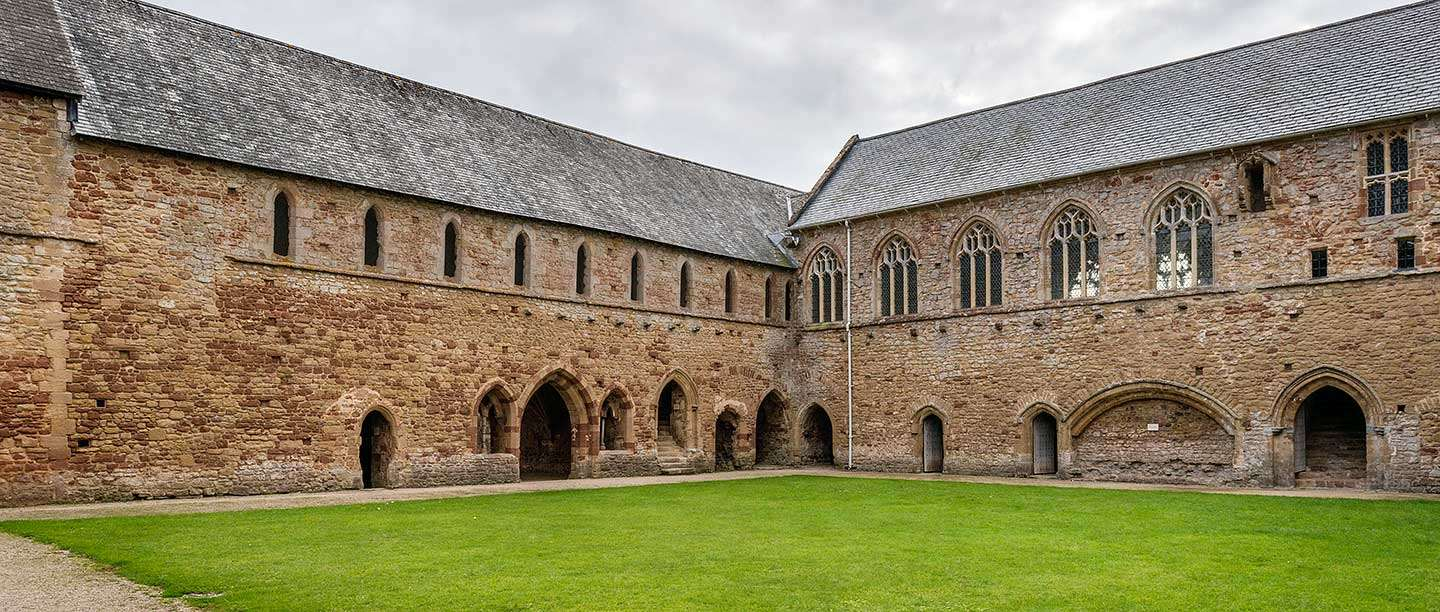 The cloister buildings at Cleeve Abbey