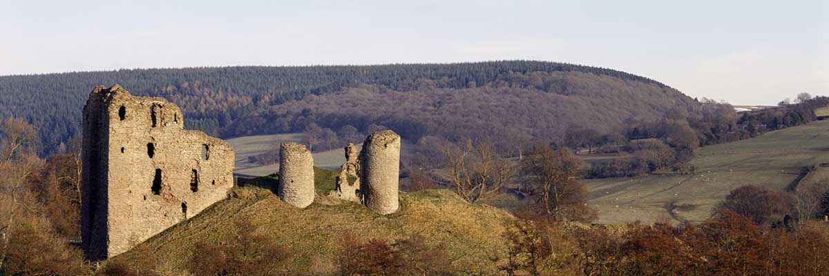 The remains of Clun Castle