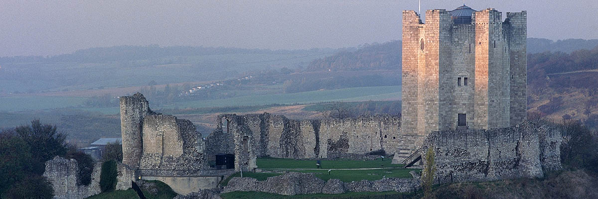 Conisbrough Castle from the south, with its magnificent late 12th-century keep on the right