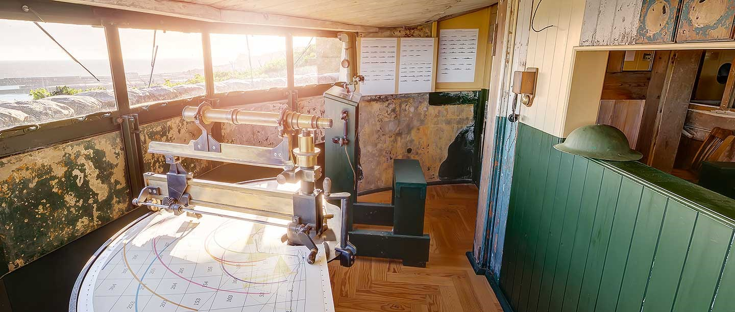The Fire Command Post at Dover Castle, from where watch was kept for enemy warships and unidentified ships during the First World War