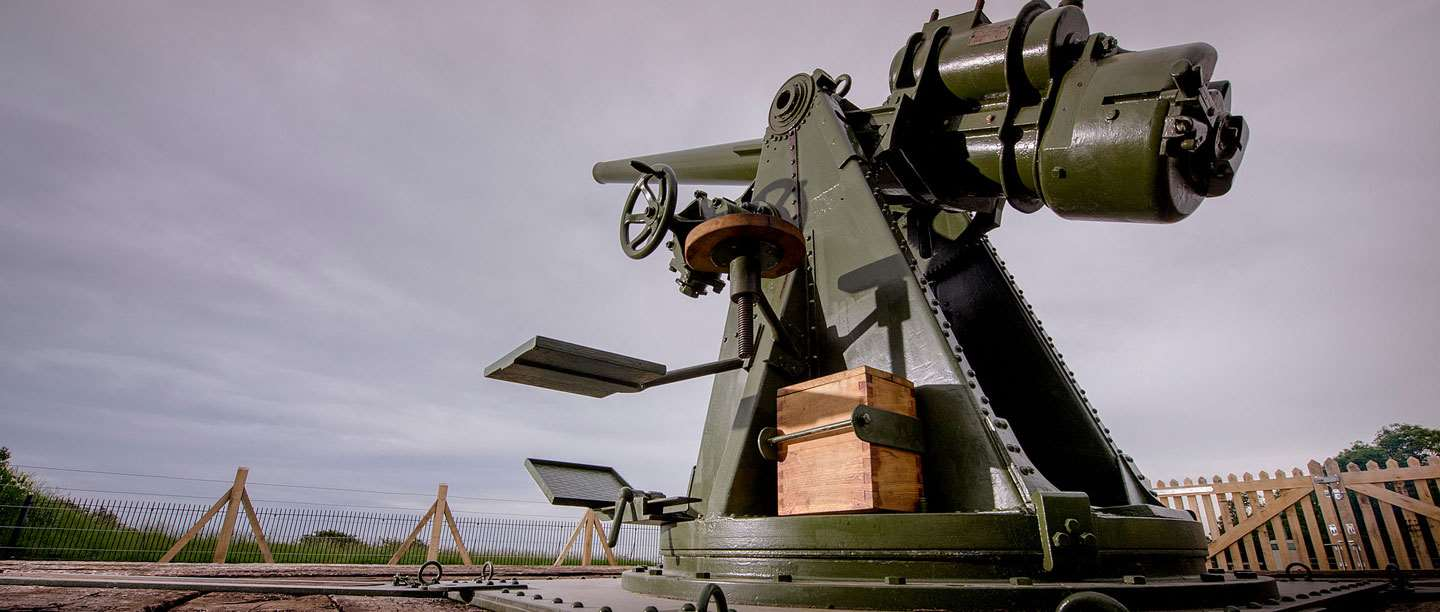 """The British 3"""" Gun at the Fire Command Post"""