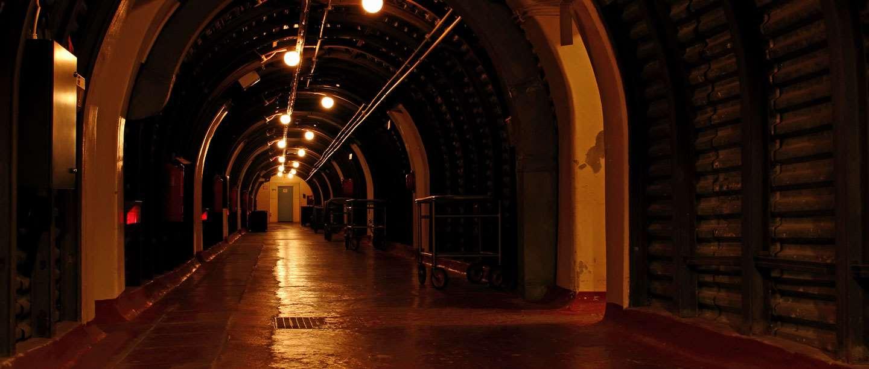Corridors within Dover Castle's Underground Hospital.
