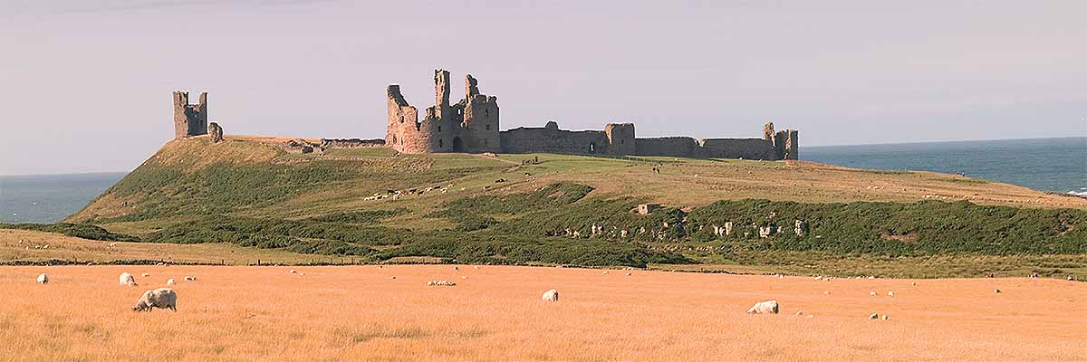 Dunstanburgh Castle seen from the south-west