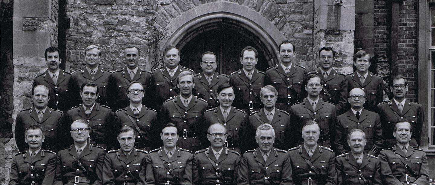 Army officers at Eltham Palace (© Reproduced by kind permission of the Adjutant General's Corps (AGC) Museum)