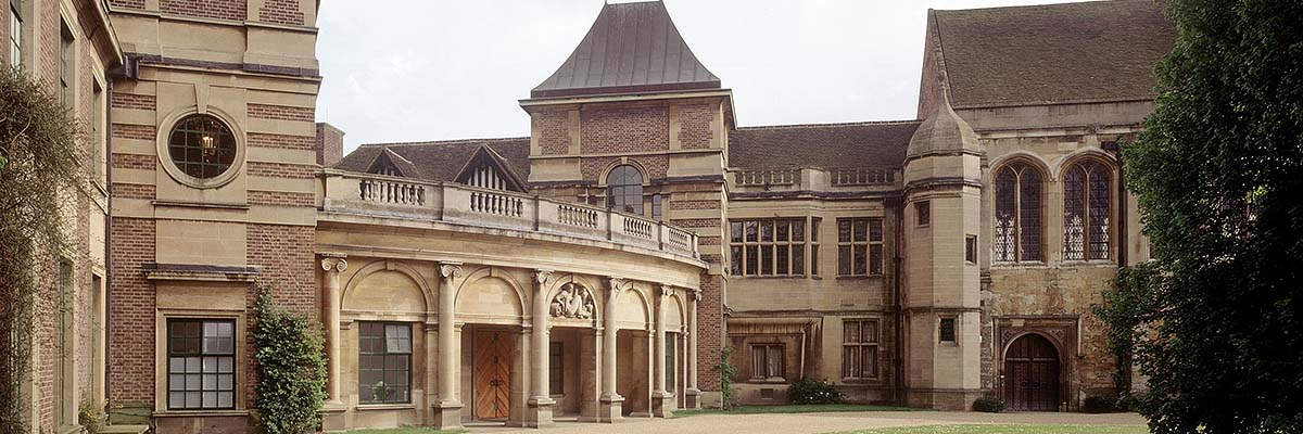 The main entrance to Eltham Palace